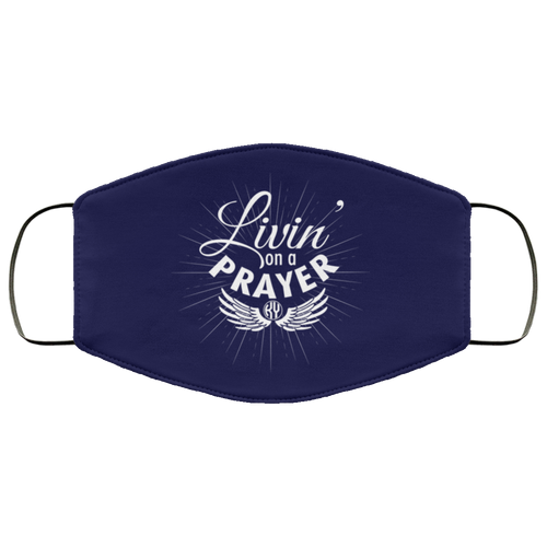 Livin' on a Prayer Face Mask (Navy)