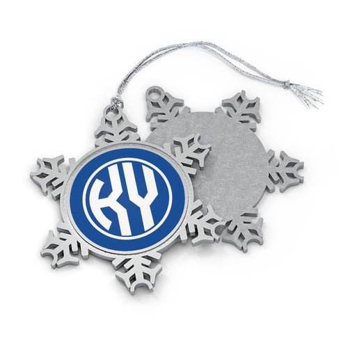 KY Girl Pewter Snowflake Ornament
