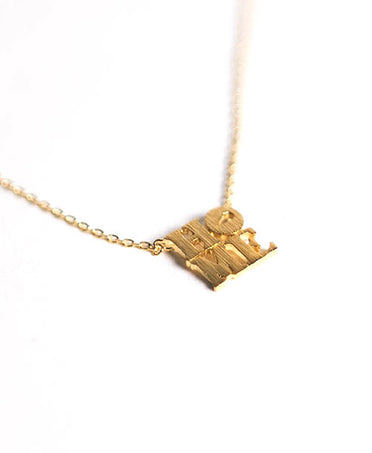 Gold HOME Necklace