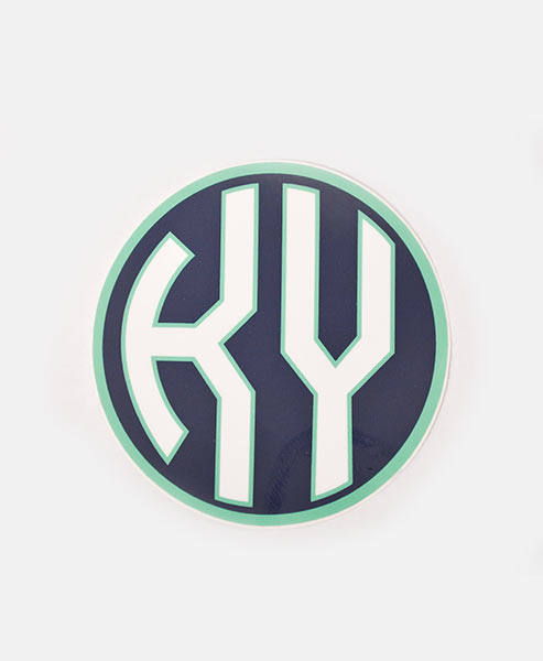 KY Decal - Navy & Mint