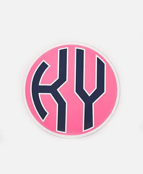 KY Decal - Navy & Pink
