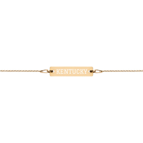 Kentucky Graduate Gold Bar Chain Bracelet