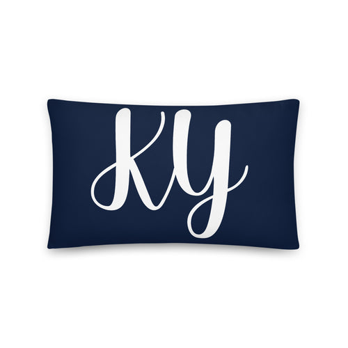 KY Navy Pillow