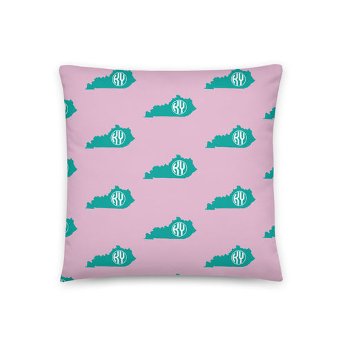 Kentucky State Monogram Pillow