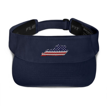 American Flag Kentucky Visor (Navy)