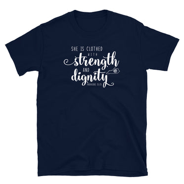 Strength and Dignity Navy SS Tee