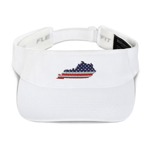 American Flag Kentucky Visor (White)