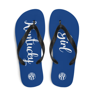 Kentucky Girl Flip-Flops Blue