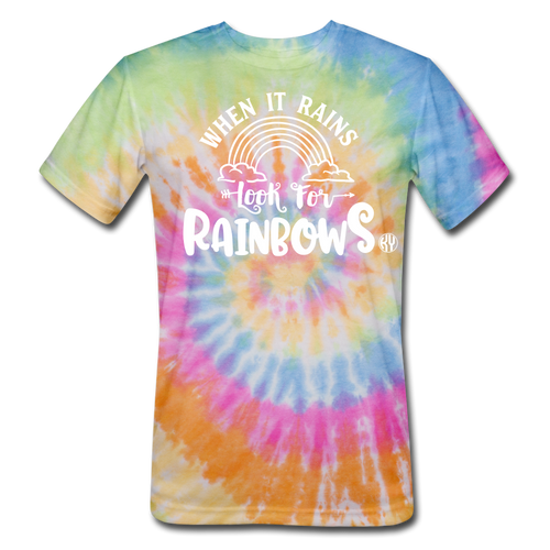Look for Rainbows Tie Dye Tee - rainbow
