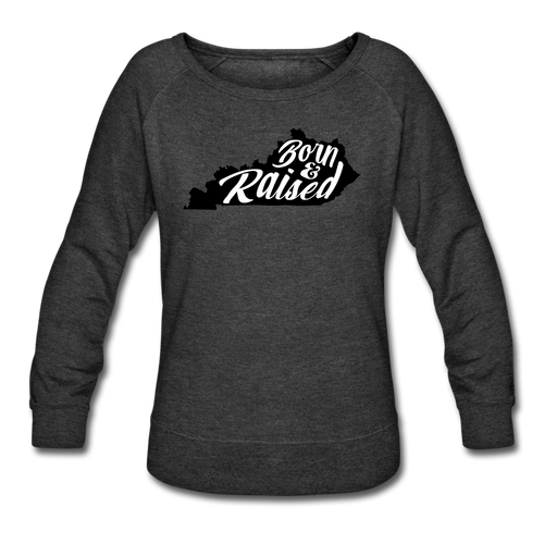 Born & Raised Crewneck Sweatshirt - heather black
