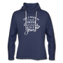 Coffee & Jesus Lightweight Hoodie - heather navy