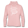 Coffee & Jesus Lightweight Hoodie - cream heather pink