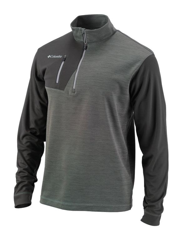 Columbia Mens Personalized Omni-Heat Regulation 1/4 Zip Pullover - Golf Tees Etc