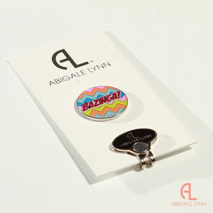 Abigale Lynn Golf Ball Marker & Hat Clip - Bazinga - Golf Tees Etc
