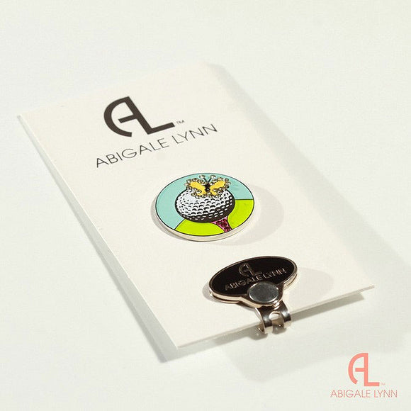 Abigale Lynn Golf Ball Marker & Hat Clip - Butterfly