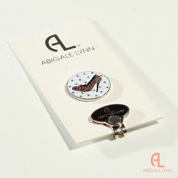 Abigale Lynn Golf Ball Marker & Hat Clip - Cheetah High Heel