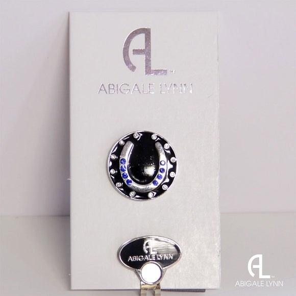 Abigale Lynn Golf Ball Marker & Hat Clip - Blue Horseshoe