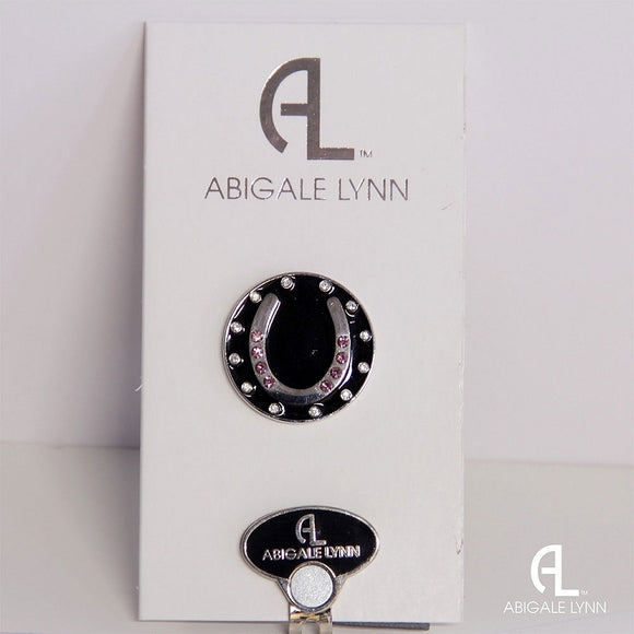 Abigale Lynn Golf Ball Marker & Hat Clip - Pink Horseshoe - Golf Tees Etc