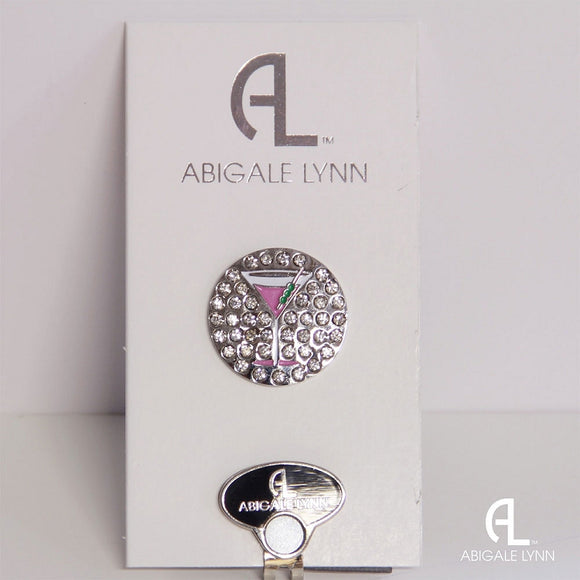 Abigale Lynn Golf Ball Marker & Hat Clip - Pink Martini