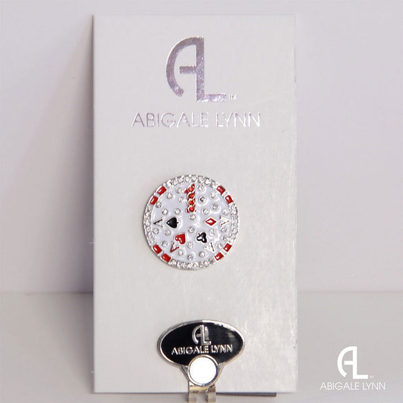 Abigale Lynn Golf Ball Marker & Hat Clip - Poker Chip