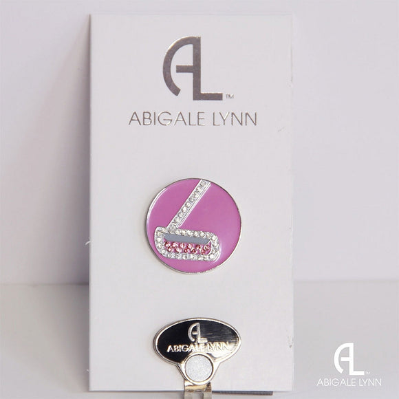 Abigale Lynn Golf Ball Marker & Hat Clip - Putter