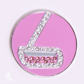 Abigale Lynn Crystal Golf Ball Marker - Golf Tees Etc
