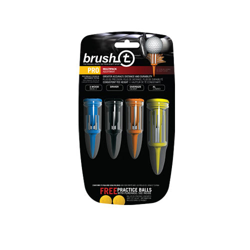 Brush T Multi Pack Tees (4 Pack) - Golf Tees Etc