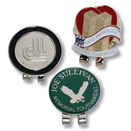 Custom Personalized Die Struck Ball Marker & Hat Clip (Min 100)