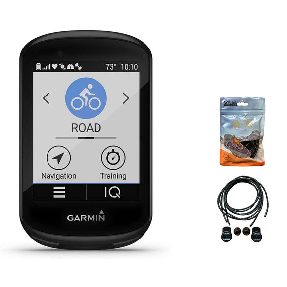Garmin Edge 830 GPS Cycling/Bike Computer with Mapping & Navigation. Bundled with A Pack of Elastic No-tie Reflective Shoe Laces