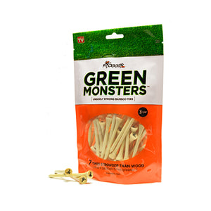 "Frogger 3 1/4"" Green Monsters Bamboo Golf Tees - 50 Pack - Golf Tees Etc"
