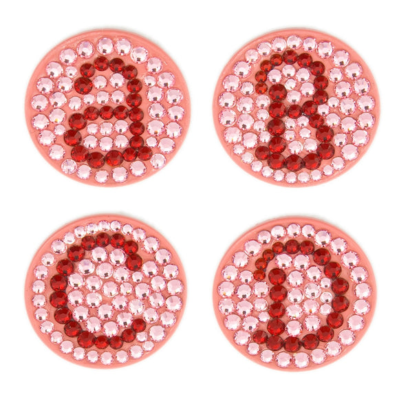 Bonjoc Crystal Golf Ball Marker & Magnetic Hat Clip - Monogram - Pink