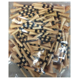 3 1/4'' Wooden Golf Tees with Height Indication Stripes - Golf Tees Etc
