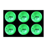 Night Eagle CV LED Golf Balls - Light Activated - No Timer - 6 Pack - Golf Tees Etc