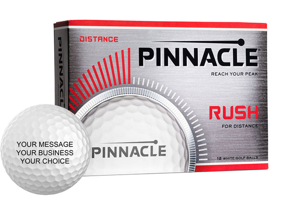 Pinnacle Rush Custom Logo Golf Balls (12 Ball Pack)