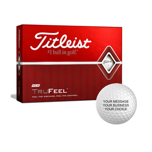 Titleist TruFeel Custom Logo Golf Balls (12 Ball Pack)