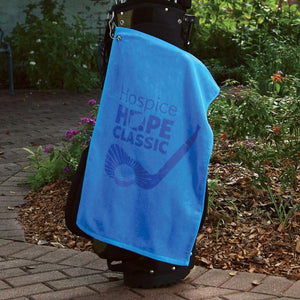 Personalized Platinum Collection Golf Towel - Corner Grommet
