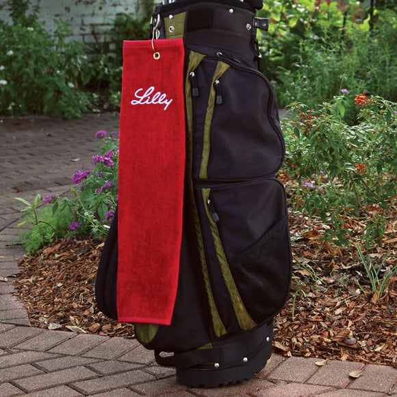 Personalized Platinum Collection Golf Towel - Tri-Fold