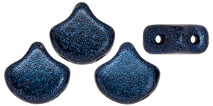 Ginkgo Bead 7.5 x 7.5 mm Dark Blue Metallic Suede x 10 g