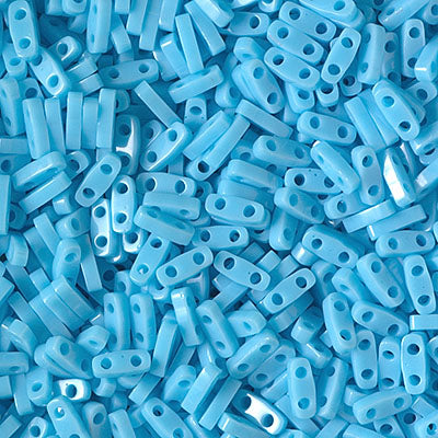 Quarter Tila Beads QTL-413 Opaque Turquoise Blue x 10 g