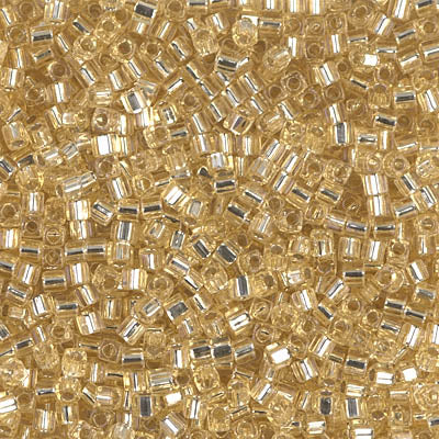 Square Beads 1.8 mm SB-0003 Silverlined Gold x 10 g