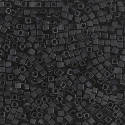 Square Beads 1.8 mm SB-0401F Mat Black x 10 g