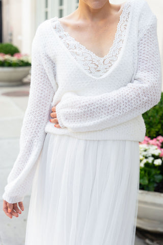 Lace wedding sweater loose and soft made for brides