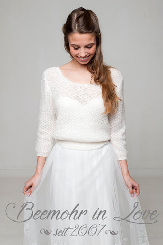 Lace sweater by Beemohr knitted for your wedding