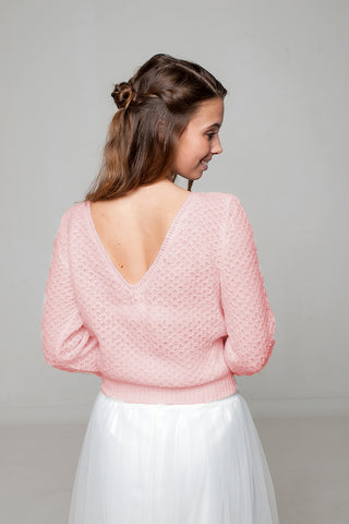 Pullover aus Lace in rosa