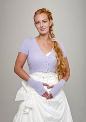 Angora jacket for weddings in lilac
