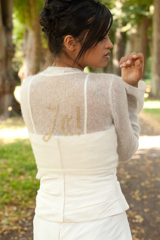 Knit my own bridal jacket: YES
