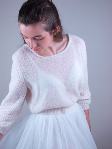wedding sweater handknitted in Germany from label Beemohr