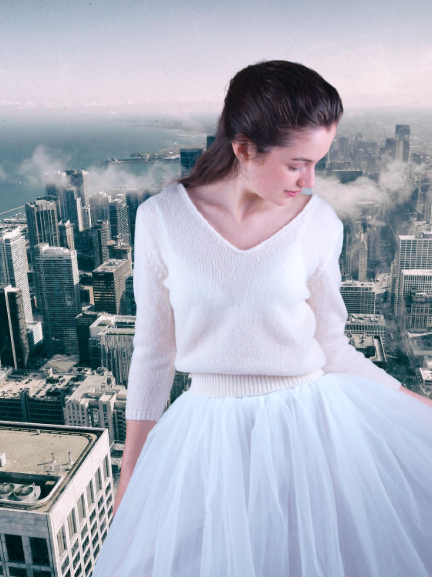 Kaschmirpullover in creme zum Heiraten in New York