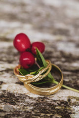 Golden jewlery made for bride and groom