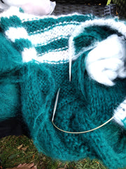 Mohair sweater lazy and oversize for woman